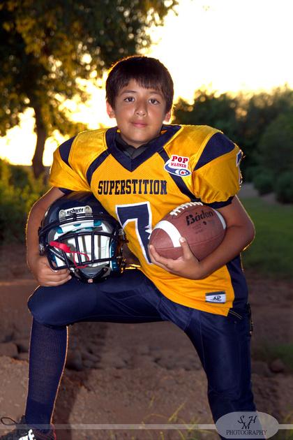 Football photography portrait